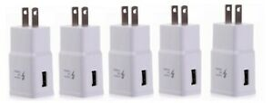 5x ADAPTIVE FAST CHARGING WALL CHARGER ADAPTER For Samsung Galaxy A10E A20 A50