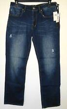 Buffalo David Bitton Jeans 34x32 SIX-X Basic Slim Straight Vintage Distressed