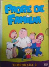 DVD: Padre de Familia, Animacion, Temporada 3, Original. Completa