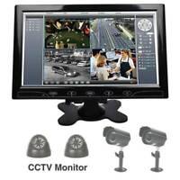 "Portable TFT LED Screen 10"" Inch CCTV Surveillance Monitor Input & Speaker UK"