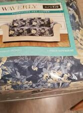 Sure fit Ballad Bouquet Waverly slipcover floral furniture cover loveseat Indigo