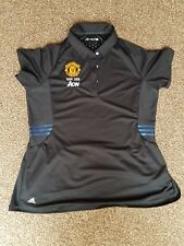 Ladies Manchester United Polo Shirt Adidas Man Utd tour 2016 Climachill.
