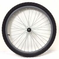"""Complete 24"""" Front Gray Bicycle Wheel with 1.95"""" Tire  Junior Mountain Bike #M12"""