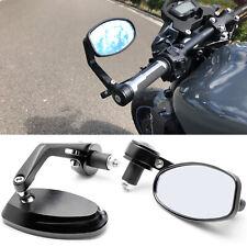 "Pair Motorcycle 7/8"" Handle Bar End Rear-View Mirrors for Kawasaki Zero Suzuki"