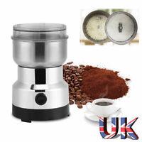 220V Electric Coffee Grinder Grinding Bean Milling Nut Spice Herbs Matte Blender