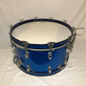 Vintage 1960s Ludwig Blue Sparkle Base Drum Keystone badge