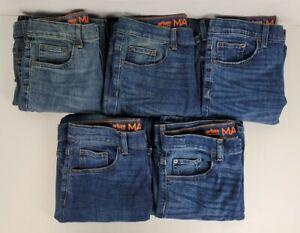 Urban Pipeline Max Wear Boys Size 16 Straight Adjustable Waist JeansLot Of 5