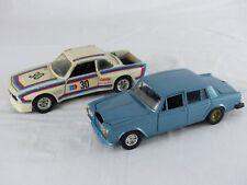 BURAGO Rolls Royce silver shadow II 0134 + BMW 3.0 S 0110 ech: 1/24 L : 17,5 cm