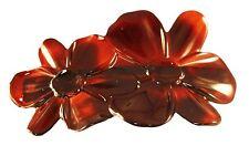 Parcelona French Deux Fleurs Tortoise Shell Celluloid Hair Clip Barrette