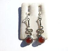 Carneol Ohrhänger-Cornelian Earrings 925 Silber Karneol E2395