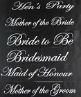HENS NIGHT PARTY BRIDAL SASH BRIDE BRIDESMAID MAID OF HONOUR - BLACK + SILVER