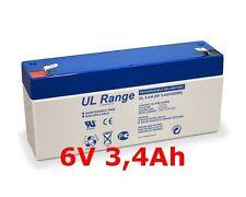 DiaMec DM6-3.3 6Volt Ersatzakku Akku Bleiakku Batterie 6V 3,2Ah 3,3Ah 3,4Ah