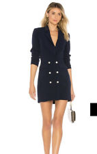 Superdown By The Way Madeline Blazer Dress Navy Blue Long Sleeve