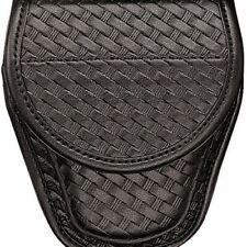 Bianchi 22063 Black 7900 Basketweave Accumold Elite Covered Handcuff Cuff Case