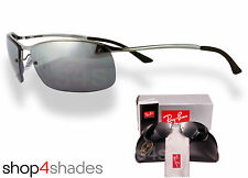 Ray Ban Top Bar Sunglasses Gunmetal_Silver Mirror_Polarised Grey 3183 004/82