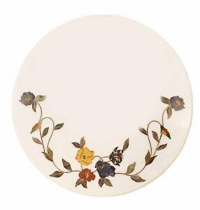 "20"" Marble Pietra Dura Inlay Coffee Table Top Handmade art Work"