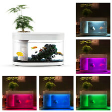 AQUARIUM Geometry Fish Tank Aquaponics Ecosystem Small Water Garden Ecological
