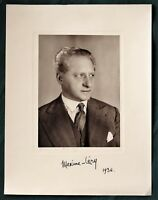 French Actor Maxime Léry 1936 signed photograph