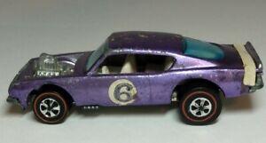 King Kuda Purple Car Original 1969 Mattel Hot Wheels HK Redline Car nr Rare