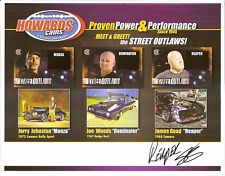 """2017 JAMES GOAD """"REAPER"""" signed STREET OUTLAWS HERO PHOTO CARD AS SEEN ON TV wC"""