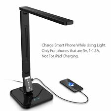 Open Box LED Desk Lamp Fugetek FT-L798 Sleek,USB Port, 4 Modes, Dimmer, 27 LED's