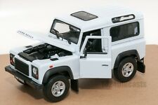 Land Rover Defender White, Welly 22498, scale 1:24, model 4x4 offroad gift
