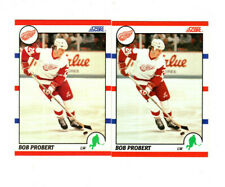100 count lot 1990/91 Score Bob Probert CARDS w/ 35 french Detroit Red Wings LW!