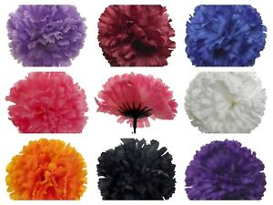 Faux silk carnation picks funeral tribute/wedding/corsage flower walls 20/72/144