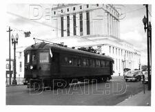 9A315 NEG/RP 1952 KEY SYSTEM RAILWAY CAR #X1005 AT 12th & OAK