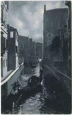 1909 Venezia Rio delle Meraviglie Gondola U.S.A. Massachusetts FP B/N VG ANIM
