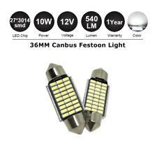 2X 36mm Canbus LED BRIGHT WHITE Interior Festoon Light Bulb Error Free 35mm 37mm