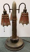 World War I Era Masonic Shriners Trench Art Artillery Shell Lamp