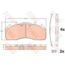 Conjunto de guarnición calzo zapatas FRENO frenos nuevo trw (gdb5096)