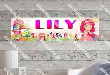 Personalized/Customized Strawberry Shortcake Name Poster Wall Decoration Banner