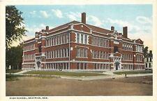 Beatrice Ne~Door Open @ High School Corner in Summer~Neighbor 1920s Postcard