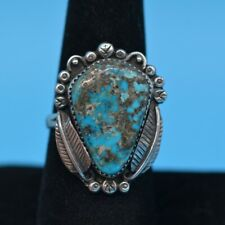 Vintage Sterling Silver&Turquoise Ring MORENCI Turquoise NICE Size 8.5