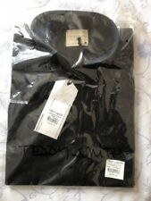 TEDDY SMITH short sleeve Shirt BLACK ( L )  LARGE 100% cotton