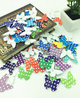 Mixed Butterfly Wooden Buttons 2 Holes Fit Sewing and Scrapbook 30x26mm