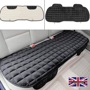 Black Universal Rear Car Seat Cover Plush Protector Non-Slip Mat Chair Cushion