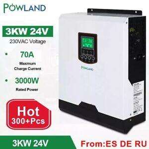Cargador de batería PWM de onda sinusoidal pura inversor híbrido solar de 3Kw
