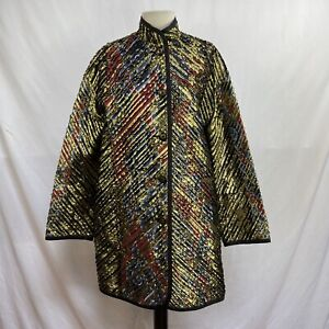 KOOS VAN DEN AKKER Vintage metallic gold coat size XL