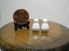 "Miniature Dollhouse Porcelain Salt and Pepper Shakers / Square 1/2"" H"