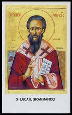 "santino-holy card""S.LUCA IL GRAMMAFICO"
