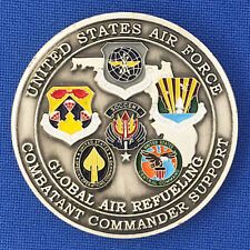US Air Force Global Air Refueling Combatant Commander Spt MacDill Challenge Coin