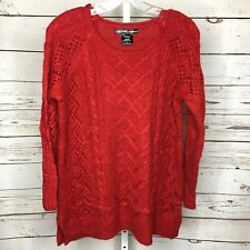 United States Sweaters Womens Chunky Knit Sweater Size L Red