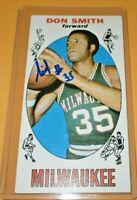 DON SMITH 1969 TOPPS TALL BOY NBA AUTO RC TRADING CARD BUCKS #52 ZAID ABDUL-AZIZ