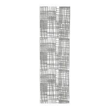IKEA LYKKELI Schiebegardine Schiebevorhang Vorhang 60x300cm weiß/grau 303.707.59