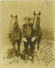 TOM MIX SIGNED PHOTO 8X10 RP AUTOGRAPHED WITH INSCRIPTION * VINTAGE