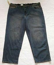 NWT Lee Loose Fit Straight Leg CUSTOM FIT Waistband Jeans WORN STONE Men 52 x 32