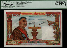 TT PK 6a 1957 LAOS 100 KIP BANQUE NATIONALE STUNNING LCG 67 PPQ SUPERB GEM NEW!